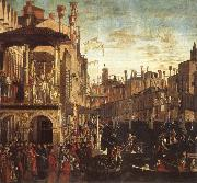 Vittore Carpaccio Cure of a possessed man through the patriarch of Grado oil painting reproduction