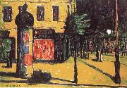 Waldemar Rosler Strabenansicht in Berlin oil painting
