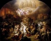 Wilhelm von Kaulbach : The Destruction of Jerusalem by Titus oil painting