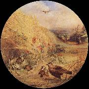 William Dexter Wheatfield with bird-s nest oil painting