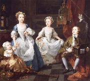 William Hogarth THe Graham Children oil painting reproduction