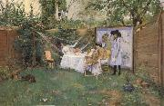 William Merrit Chase Fruhstuck im Freien oil painting