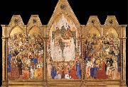 unknow artist The Coronation of the Virgin oil painting reproduction