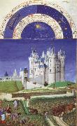 Brothers Van Limburg September, page from the Tres riched heures du duc the Berry