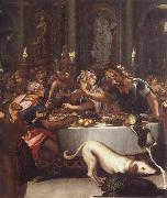 ALLORI Alessandro The banquet of the Kleopatra oil painting on canvas
