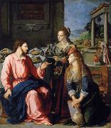 Museum art historic Christ with Maria and Marta