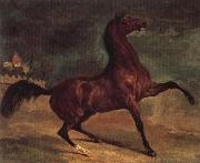 Alfred Dehodencq Horse in a landscape