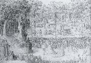 Court ball following the Ballet of the Provinces of France with a view to gthe gardens of the Tuileries, Antoine Caron
