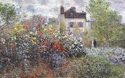 The Artist-s Garden in Argenteuil, Claude Monet
