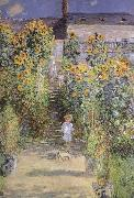 The Artist-s Garden at Veheuil, Claude Monet