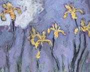 Yellow Irises with Pink Cloud, Claude Monet