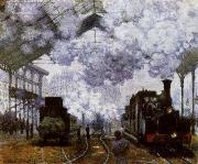The Gare Saint-Lazare Arrival of a Train, Claude Monet