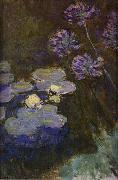 Water Lilies and Agapanthus Lilies, Claude Monet