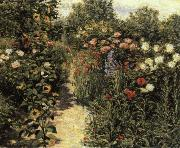 Garden in Giverny, Claude Monet