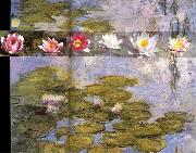 Detail from Water Lilies, Claude Monet