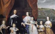 Arthur,1st Baron Capel and his family