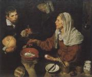 Old woman in the eggs roast, Diego Velazquez