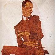 Egon Schiele Portrait of the Art Critic Arthur Roessler oil painting on canvas