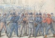 Union Soldiers Attacking Confederate Prisoners in the Streets of Washington