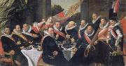 Festmabl of the officers of the St. Jorisdoelen in Haarlem, Frans Hals