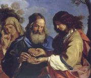 Samson brings the parents the Honiguabe, GUERCINO