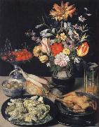 Style life table with flowers, Essuaren and Studenglas, Georg Flegel