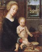 Gerard David Maria with child oil painting reproduction
