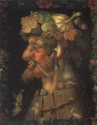 Giuseppe Arcimboldo The autumn oil painting