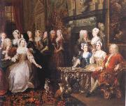 Company in Wanstead House, HOGARTH, William