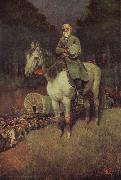 Howard Pyle General lee on his Famous appointment oil painting artist