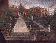 Inigo Jones The East Garden of Arndel House with the antique scuplture and a gateway oil painting