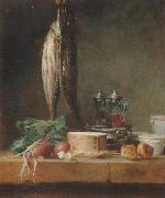 Style life with fish, Grunzeug, Gougeres shot el as well as oil and vinegar pennant on a table