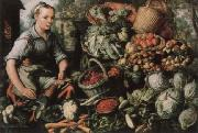 Museum national market woman with fruits, Gemuse and Geflugel