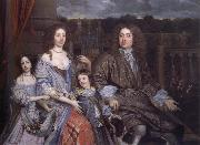 John Michael Wright The Family of Sir Robert Vyner seated before the garden at Swakeleys oil painting