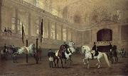 Julius von Blaas Morning working in the winter riding school oil painting artist