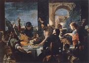Mattia Preti Mattia Preti the guest meal Abschaloms oil painting artist