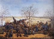 Samuel J.Reader The Battle of the Blue October 22.1864 oil painting