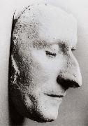 His death mask in his alma mater
