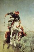 William Herbert Dunton Bronc Rider oil painting
