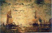 unknow artist Seascape, boats, ships and warships. 76 oil painting reproduction