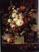 unknow artist Floral, beautiful classical still life of flowers.055 oil painting reproduction