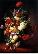 unknow artist Floral, beautiful classical still life of flowers.053