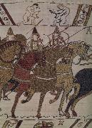 Frankeich knight in the attack on Harold, out of the carpet of Bayeux