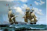 unknow artist Seascape, boats, ships and warships. 60