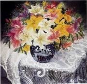 unknow artist Still life floral, all kinds of reality flowers oil painting  122 oil painting on canvas