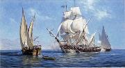unknow artist Seascape, boats, ships and warships. 99