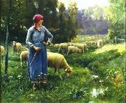 unknow artist Sheep 151 oil painting reproduction