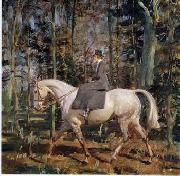 unknow artist Classical hunting fox, Equestrian and Beautiful Horses, 092. oil painting on canvas
