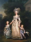 Adolf-Ulrik Wertmuller Queen Mary Antoinette with sina tva baby in Triangle park oil painting reproduction