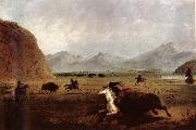 Alfred Jacob Miller Buffalo Hunt oil painting reproduction